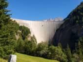Swiss Alps, dam of lake Luzzone — Stock Photo