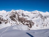Beautiful sunny day and the snow in the Italian Switzerland. Air — Stok fotoğraf