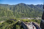 Juyongguan. The upper point of the section of the Great Wall — Stock Photo