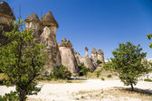 """Cappadocia, Turkey. Stone """"mushrooms"""" in the Valley of the Monks (Pashabag) — Stock Photo"""