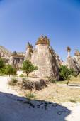"Cappadocia, Turkey. Stone ""mushrooms"" (Pillars of weathering) in the Valley of the Monks (Pashabag) — Stock Photo"