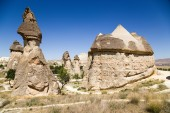 Cappadocia, Turkey. Scenic pillars of weathering in the Valley Pashabag (Valley of the monks) — Stock Photo
