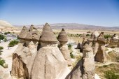 Cappadocia, Turkey. Rocks in the form of a mushroom in the Pashabag Valley (Monks Valley) — Stock Photo