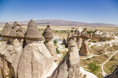 Cappadocia, Turkey. Fantastic pillars of weathering Pashabag Valley (Valley of the Monks) — Stock Photo