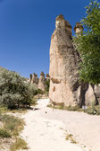 Cappadocia, Turkey. Scenic weathered poles in the Valley of Monks (Pashabag, Cappadocia, Turkey. Scenic weathered poles in the Valley of Monks (Pashabag Valley) — Stock Photo