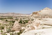 Cappadocia, Turkey. Mountain landscape in the Valley of Monks (Valley Pashabag) — Stock Photo