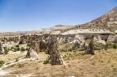 Cappadocia, Turkey. Unusual rock in the Valley of the Monks (Valley Pashabag) — Foto de Stock