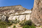 Cappadocia, Turkey. Beautiful mountain landscape in the Pashabag Valley (Monks Valley) — Stock Photo