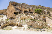 Turkey, Urgup. Rock caves, adapted for housing — Stock Photo