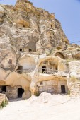 "Urgup, Turkey. Multi-storey ""home"" of the ""cave town"" — Stock Photo"