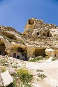 Turkey, Urgup. Multistory tuff caves of the old town — Stock Photo
