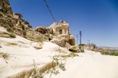 Turkey, Urgup. Ruins in the 'cave town' — Stock Photo
