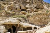 "Urgup, Turkey. Ruins ""buildings-caves"" of the old town — Stock Photo"