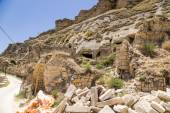 Turkey, Urgup. Ruins of the 'cave town' — Stock Photo
