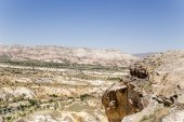 Cappadocia, Turkey. Mountains in the vicinity of Urgup — Stock Photo