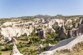 Cappadocia, Turkey. The picturesque Valley of Pigeons with pillars of weathering near the Uchisar  town — Stock Photo