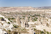 Cappadocia, Turkey. The picturesque mountain valley with pillars of weathering in the vicinity of Uchisar town — Stock Photo