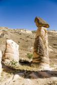 Cappadocia, Turkey. Pillars of weathering (outliers, fireplaces fairies) in the vicinity of Cavusin — Stock Photo