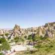 Постер, плакат: CAPPADOCIA TURKEY JUN 25 2014: Photo of the ancient cave monastery complex in the rocks at the Open Air Museum in Goreme National Park