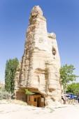 CAPPADOCIA, TURKEY - JUN 25, 2014: Photo of the ancient church into the rock at the Open Air Museum of Goreme — Fotografia Stock