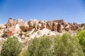 Cappadocia, Turkey. View Devrent Valley with figures of weathering (outliers) — Stock Photo
