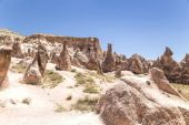 Cappadocia, Turkey. Mountain landscape with beautiful pillars of weathering (rock outcrops) in the Derwent Valley — Stock Photo
