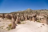 Cappadocia, Turkey. Mountain landscape with beautiful figures of weathering in the Devrent Valley — Stock Photo