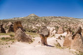 Cappadocia, Turkey. Landscape with bizarre figures of weathering in the Devrent Valley — Stock Photo