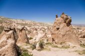 Cappadocia, Turkey. Whimsical shapes of weathering in the Devrent Valley — Stock Photo