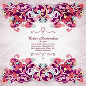 Elegant Indian ornamentation background. — Stock Vector