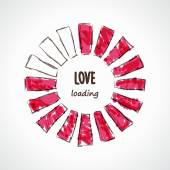 Love loading illustration — Stock Vector