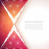 Abstract geometric background with polygons — Stock Vector