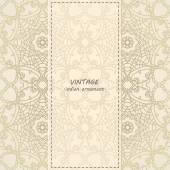 Elegant Indian ornamentation background — Stock Vector