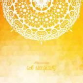 Elegant Indian ornamentation on background — Stock Vector