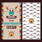 Happy birthday card invitation — Stock Vector