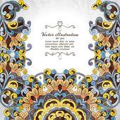 Elegante indische Ornamentik Hintergrund. — Stockvektor