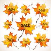Sprzedaż zniżki etykiety — Wektor stockowy