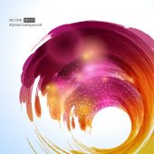 Abstract colorful swirl template — Stock Vector