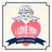 Vintage Sevgililer günü kartları — Stok Vektör