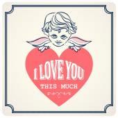 Vintage valentine cards — Stock Vector