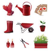 Set of garden tools — Vettoriale Stock