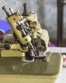 Overlocker sewing machine — Stock Photo
