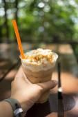 Ledová káva se šlehačkou — Stock fotografie