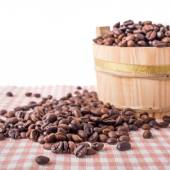 Coffee Beans in a bucket — Stock Photo
