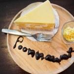 Mango peynirli kek — Stok fotoğraf #73337435
