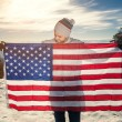 Young man with USA flag — Stock Photo #75516139