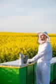 Proud apiarist — Stock Photo