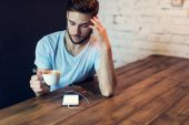 Coffee and wireless — Stock Photo