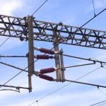 Overhead line of railway tracks — Stock Photo #52337325
