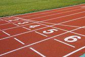 The running track closeup — Foto de Stock